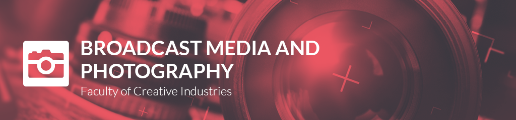 broadcast media and photography banner
